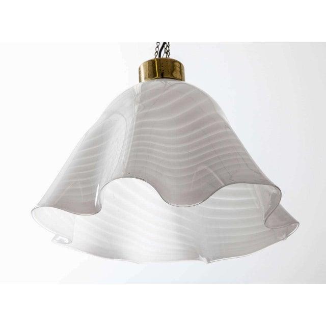 Mid-Century Modern Venini Fazzoletto Pendant For Sale - Image 3 of 8