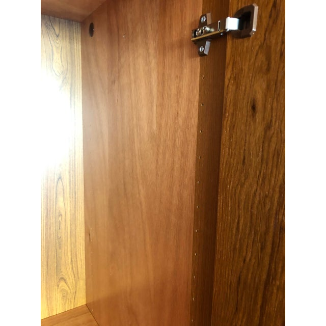 1980s Vintage Danish Teak Wood Armoire With Adjustable Shelving For Sale In Seattle - Image 6 of 7