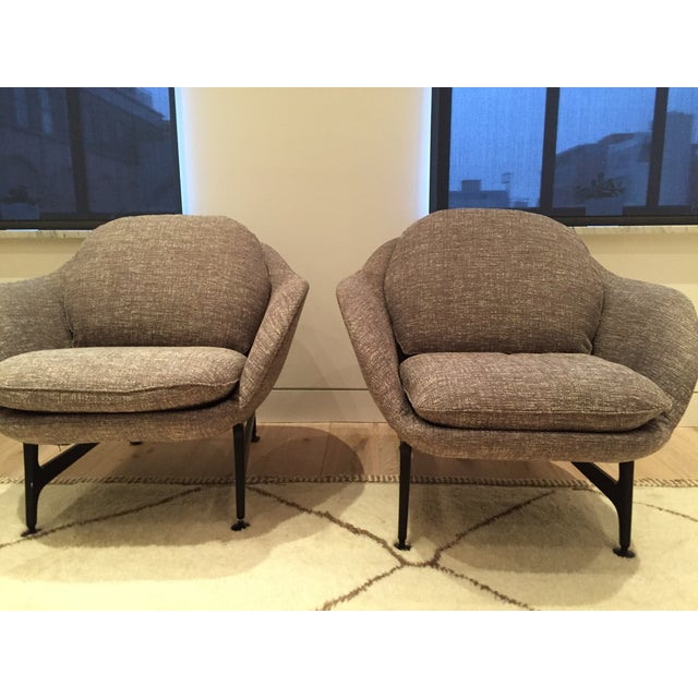 Cassina 399 VICO Gray Armchairs - A Pair - Image 4 of 6