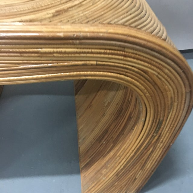 Vintage Gabriella Crespi Style Pencil Reed - Bamboo Table - Side Table For Sale In West Palm - Image 6 of 7