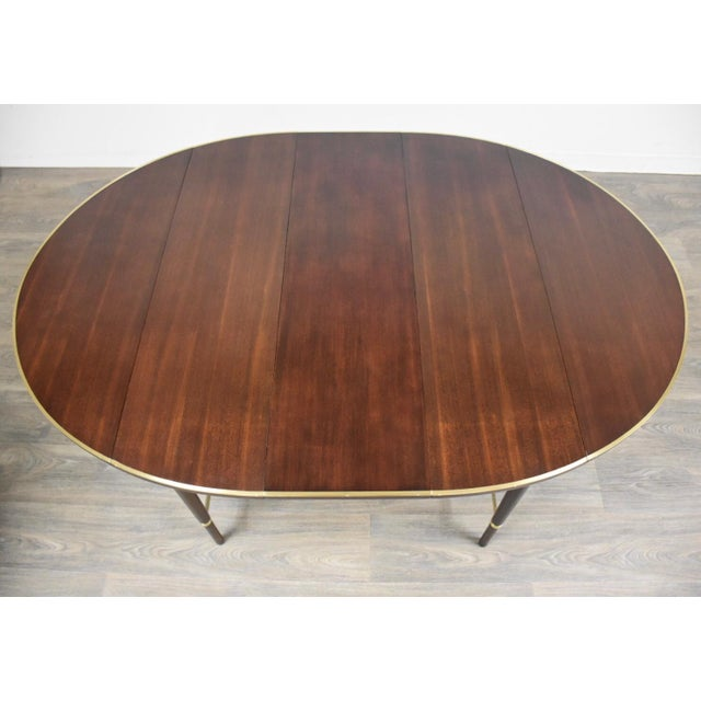 Paul McCobb Mahogany and Brass Dining Table For Sale - Image 9 of 13