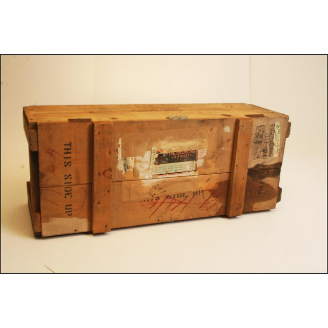 Vintage Wood Military Ammunition Trunk - Image 4 of 11