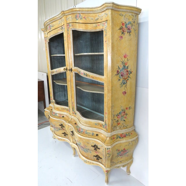 Venetian Paint Decorated China Cabinet - Image 3 of 3