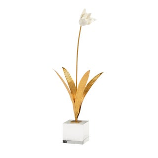 Chelsea House Inc Tulip in Stand Sculpture For Sale