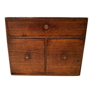19th Century French Wooden Tea Box For Sale