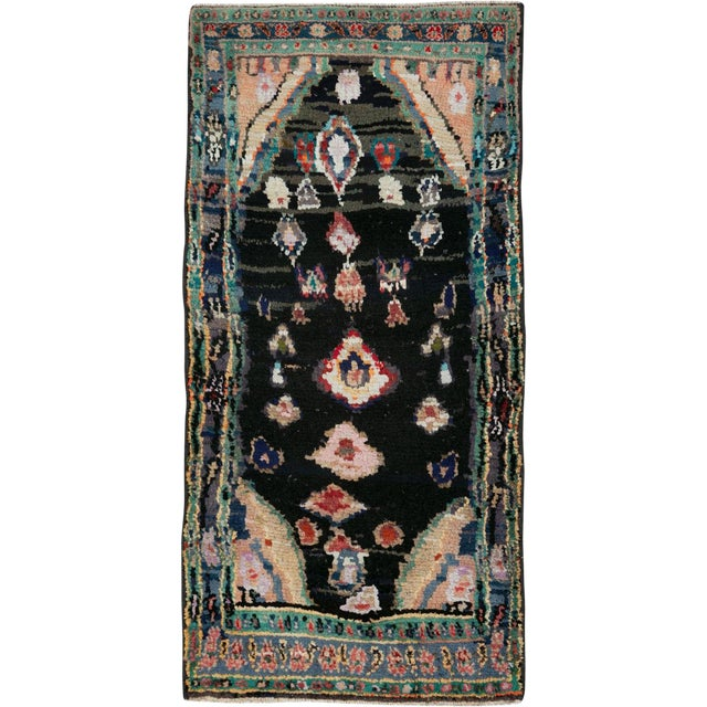 "Vintage Persian Gabbeh Rug – Size: 1' 11"" X 4' 2"" For Sale"