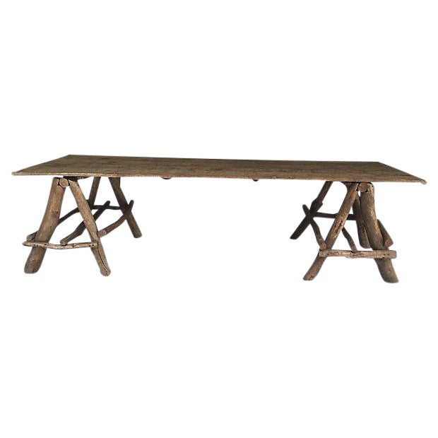 French Rustic Farmhouse Style Table - Image 1 of 4