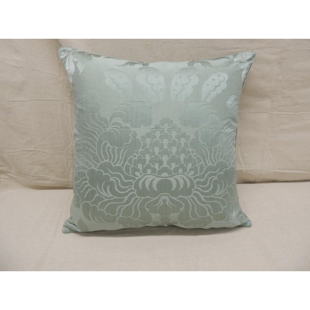 Antique Aubusson Tapestry Square Decorative Pillow For Sale In Miami - Image 6 of 9