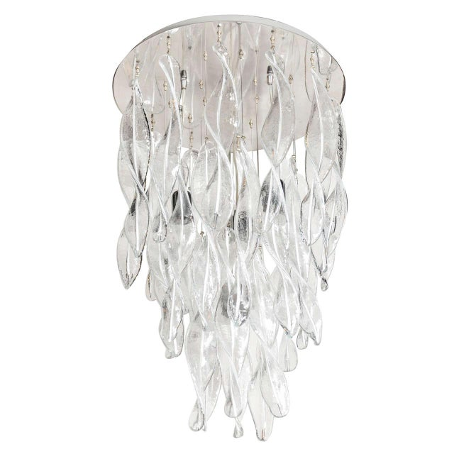Italian Handblown Murano Glass Vortex Chandelier For Sale In New York - Image 6 of 6