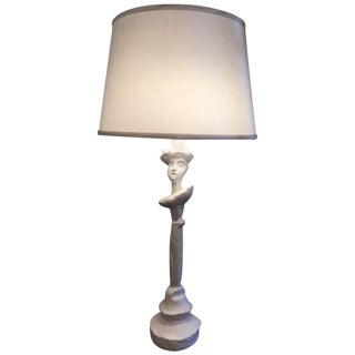 Sirmos Masque Table Lamp, Giacometti Design For Sale