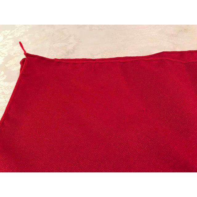 Mid 20th Century Vintage Red Napkins - Set of 4 For Sale - Image 5 of 6