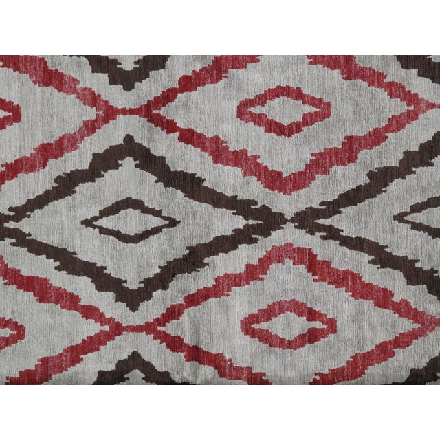 2010s Stark Studio Rugs Traditional New Oriental Tibetan Silk Rug - 10′ × 14′3″ For Sale - Image 5 of 5
