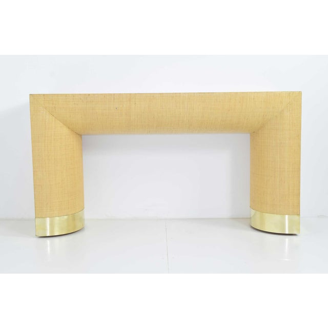 1970s Mid-Century Modern Console and Mirror - 2 Pieces For Sale - Image 5 of 8