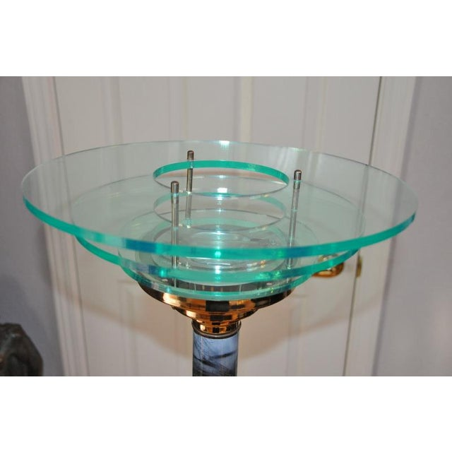 Designer 1990s Mid-Century Modern Acrylic Torchiere Floor Lamp For Sale - Image 4 of 10