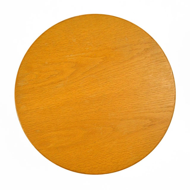 Eero Saarinen Tulip Side Table With Oak Top by Knoll For Sale In Chicago - Image 6 of 10