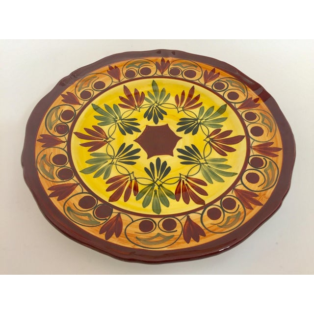 Ceramic French Polychrome Hand Painted Ceramic Decorative Plate For Sale - Image 7 of 12