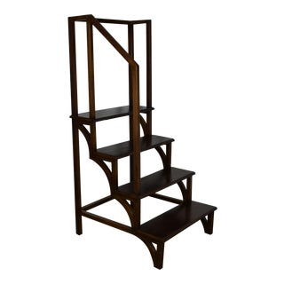 1920's Gothic Style Library Step For Sale