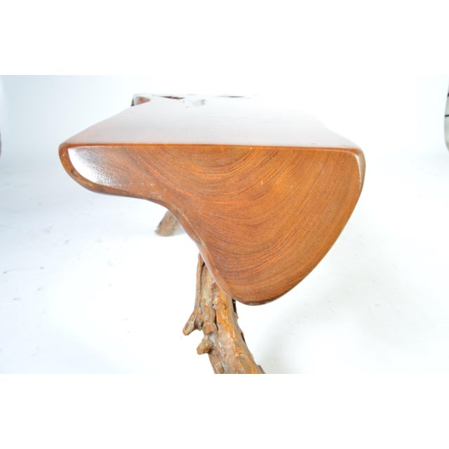 Mid-Century Modern Free Edge Natural Sycamore Table With Root Legs Ca 1950 For Sale - Image 3 of 9