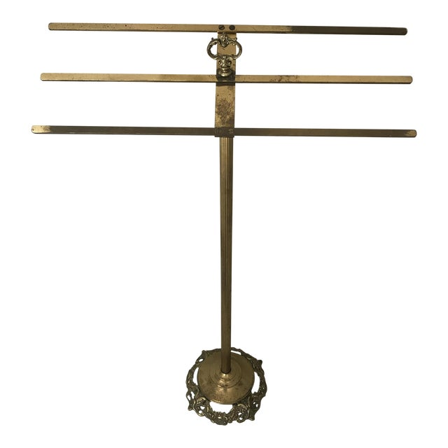 Vintage Brass Towel Rack - Image 1 of 5