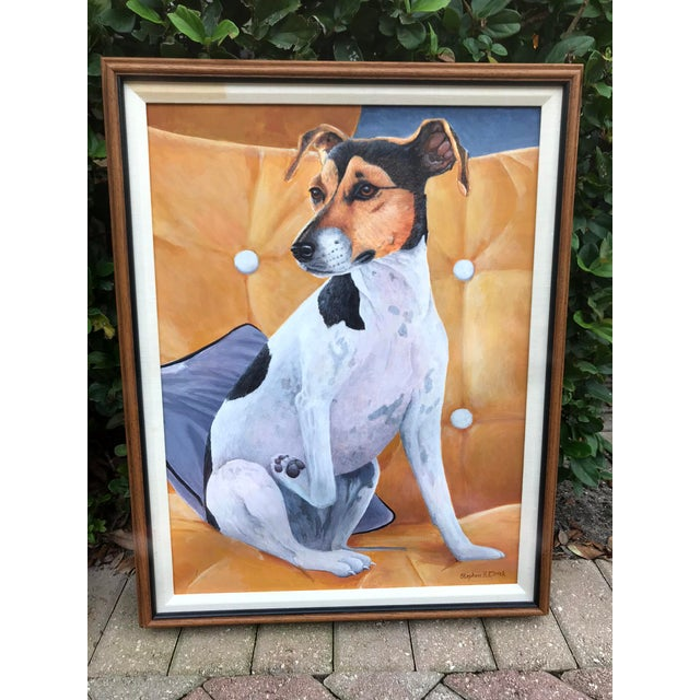 20th Century Figurative Original Painting of a Jack Russel Terrier Dog For Sale In West Palm - Image 6 of 6