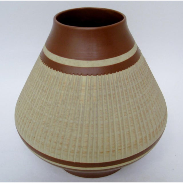 West German Ceramic Vase For Sale - Image 4 of 7
