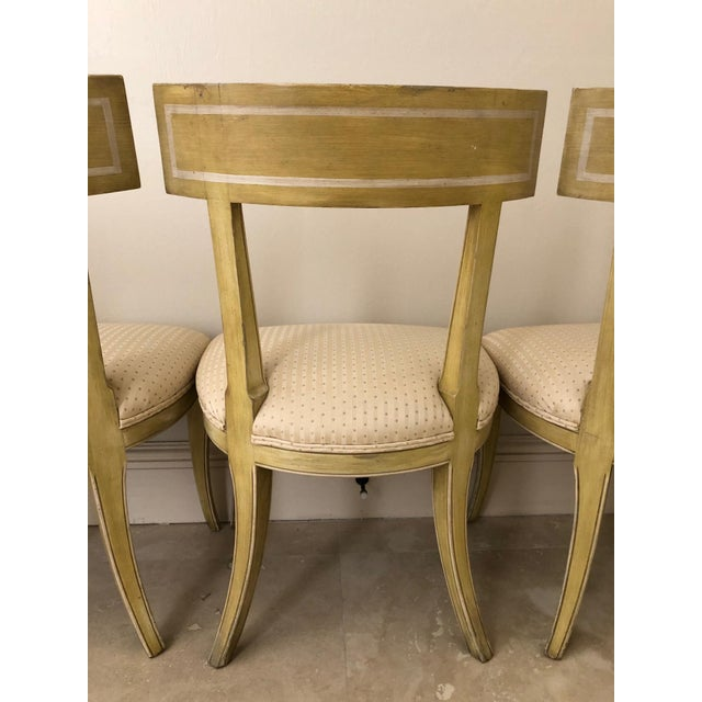 Mid Century Klismos Dining Chairs- Set of 4 For Sale - Image 12 of 13