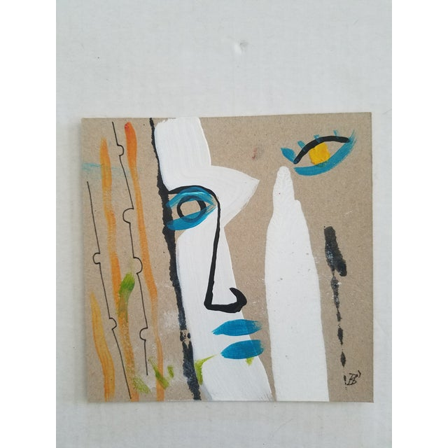 Abstract Modern Abstract Face Painting For Sale - Image 3 of 3