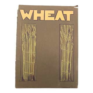 "1940s Vintage Evelyn Underwood ""Wheat"" Pastel Collage For Sale"