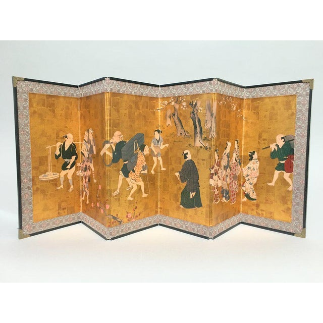 Vintage 1970s Chinese Gold Table or Desk Top Folding Screen For Sale - Image 11 of 11