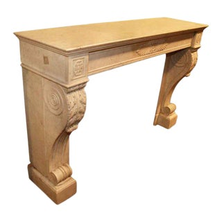 Danny Alessandro Antique French Empire Style Marble Mantel For Sale