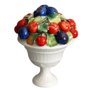 Italian Fruit Topiary Compote For Sale