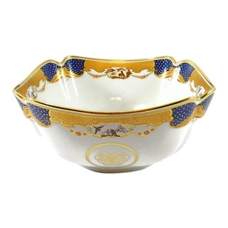 Mottahedeh Golden Butterfly Bowl For Sale