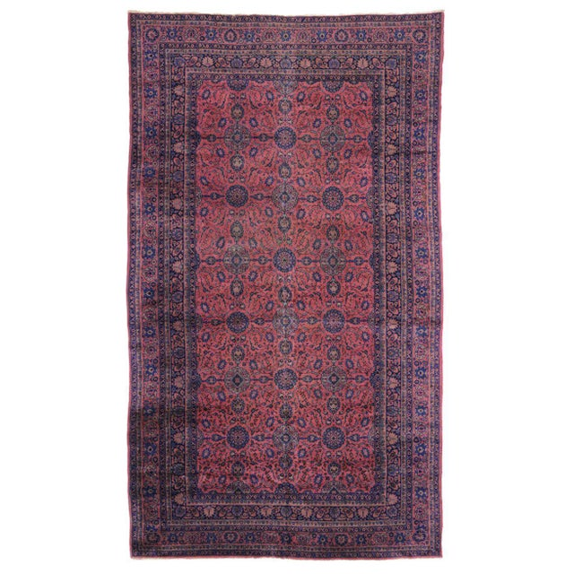 Jewel-Tone Antique Turkish Sparta Gallery Rug For Sale - Image 5 of 8
