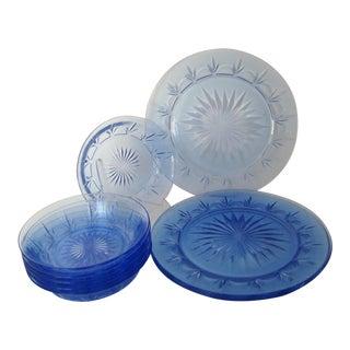 Vintage Fostoria Glass Dinnerware, 10 Pieces