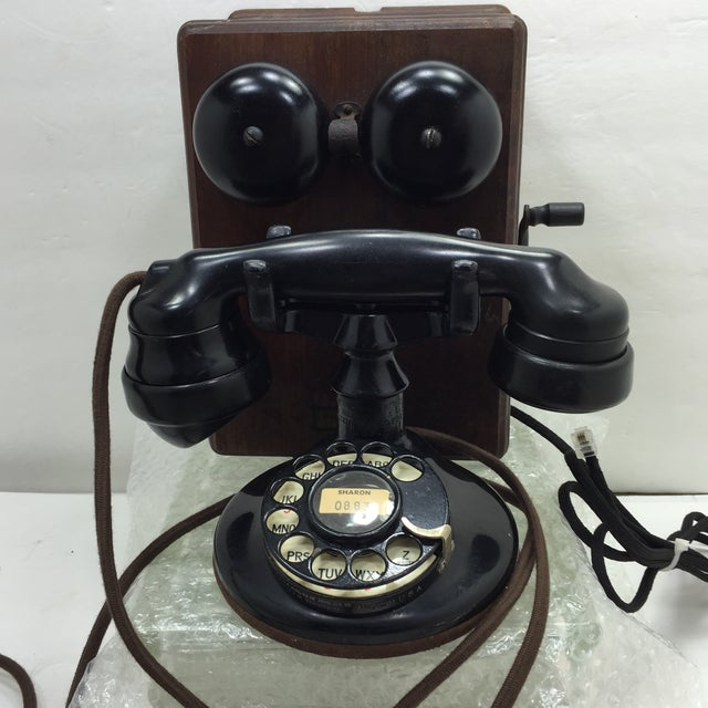 Antique 1920s Western Electric A1 Rotary Dial Telephome - Image 7 of 11
