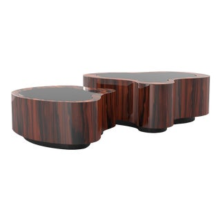 Covet Paris Wave Pau Santo Coffee Table For Sale