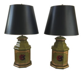 Image of Army Green Table Lamps