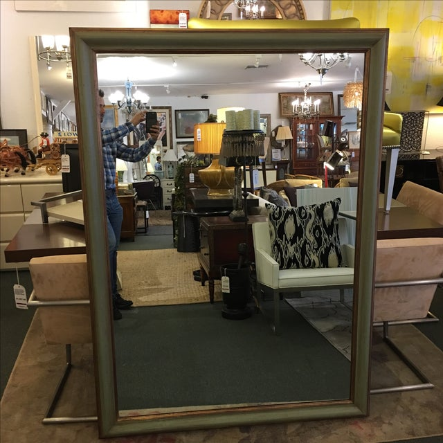 Green & Gilt Wall Mirror - Image 9 of 9