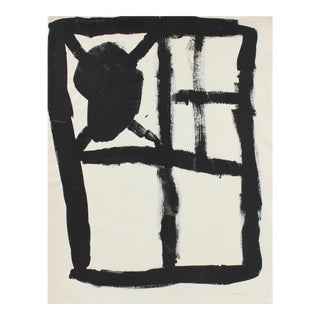 Modernist Minimal Abstract in Gouache, 20th Century