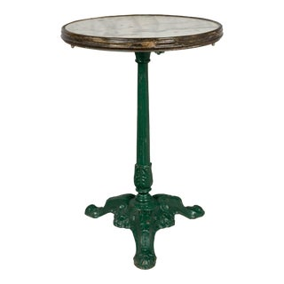 19th Century French Cast Iron Bistro Table For Sale
