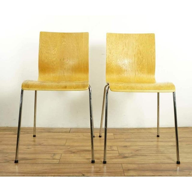 Bentwood Modern Room & Board Bentwood Side Chairs - a Pair For Sale - Image 7 of 7