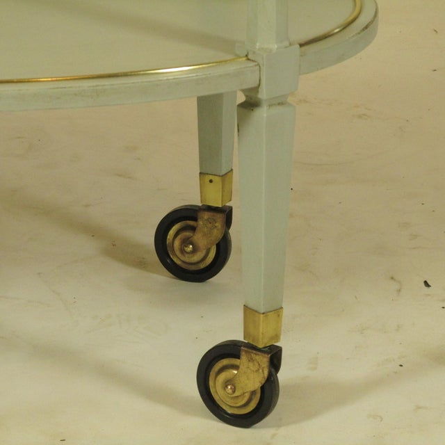 English Gray Painted Tea Cart For Sale In Boston - Image 6 of 11