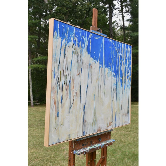 """Abstract Painting, """"Have You Ever Seen a Sky So Blue"""", by Stephen Remick For Sale In Providence - Image 6 of 10"""