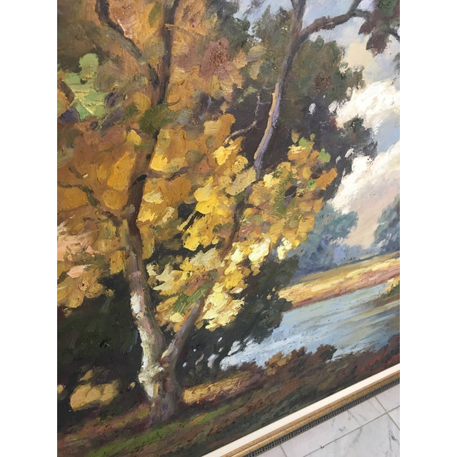Paint Late 20th Century Oil on Canvas Landscape Painting For Sale - Image 7 of 10