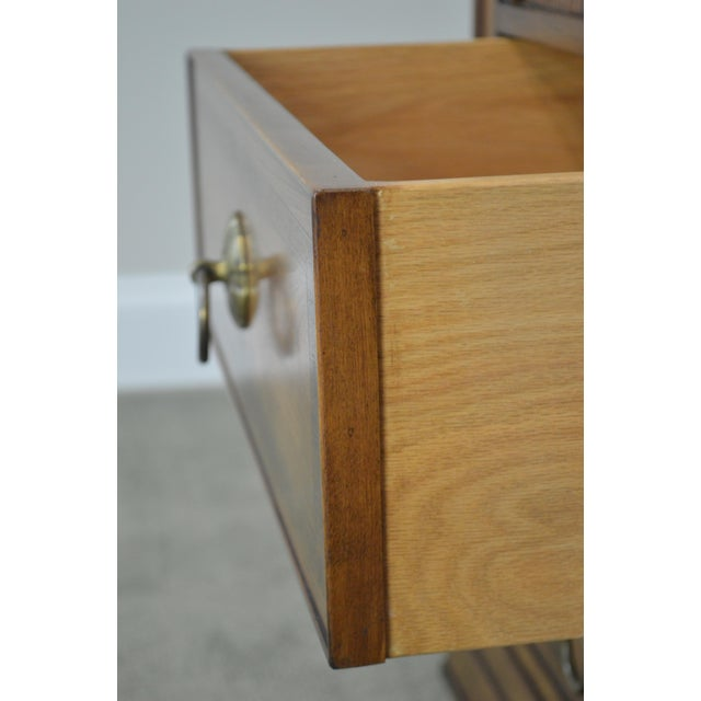 Regency Style Custom Quality Tambour Door Chest For Sale - Image 12 of 13