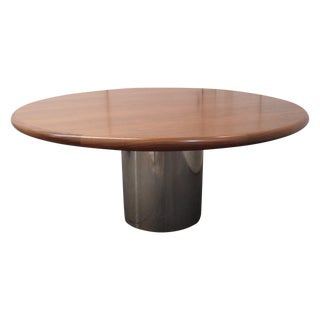 Milo Baughman Mid-Century Round Table For Sale