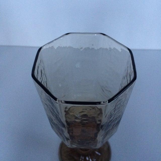 Vintage Octagonal Stemmed Glasses - Set of 10 - Image 4 of 10
