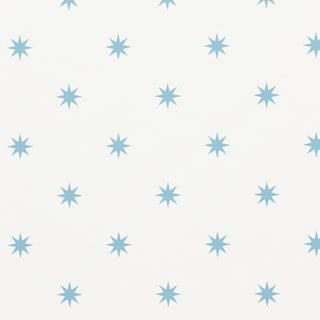 Sample - Schumacher Stargaze Wallpaper in Blue Preview