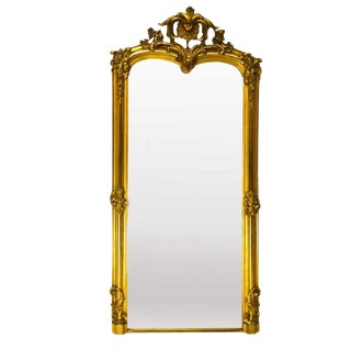 Early 20th Century Antique French Gilded Mirror For Sale