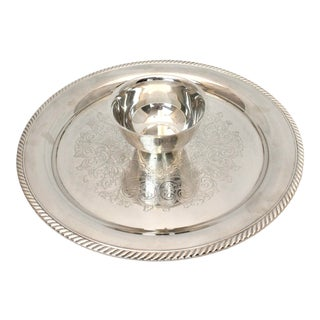 W. M. A. Rogers Silver Chip and Dip Hors D'oeuvres Platter For Sale